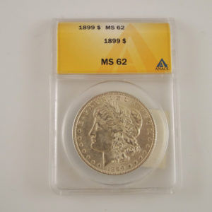 RARE 1899p Morgan Silver Dollar MS62 ANACS